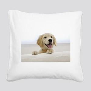 puppy Square Canvas Pillow