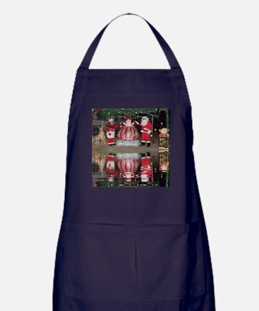 Christmas Santa and Mrs Claus Apron (dark)