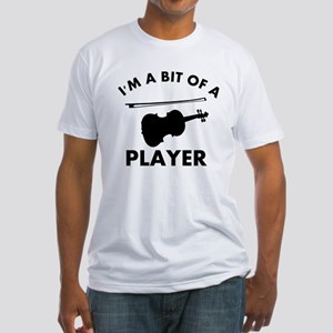 Cool Violin designs Fitted T-Shirt