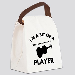 Cool Violin designs Canvas Lunch Bag
