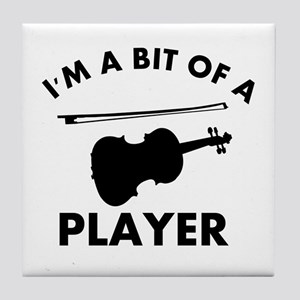 Cool Violin designs Tile Coaster