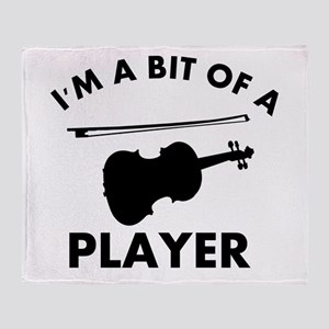 Cool Violin designs Throw Blanket