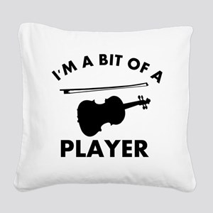 Cool Violin designs Square Canvas Pillow