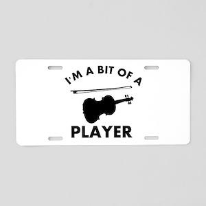 Cool Violin designs Aluminum License Plate