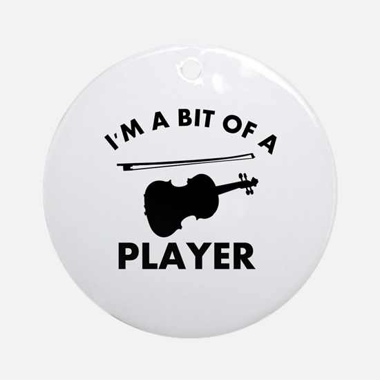 Cool Violin designs Ornament (Round)