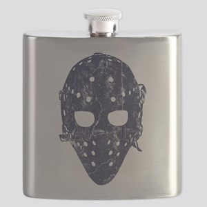 Vintage Hockey Goalie Mask (dark) Flask