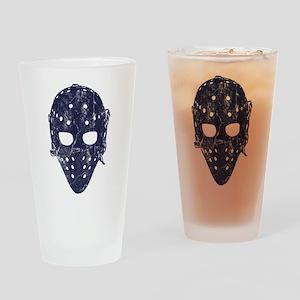 Vintage Hockey Goalie Mask (dark) Drinking Glass