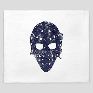 Vintage Hockey Goalie Mask (dark) King Duvet