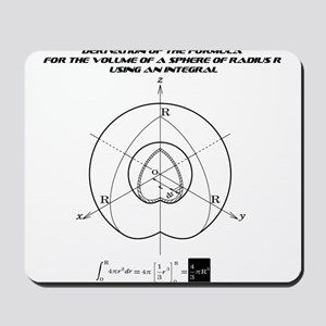 the formula for the volume of a sphere Mousepad