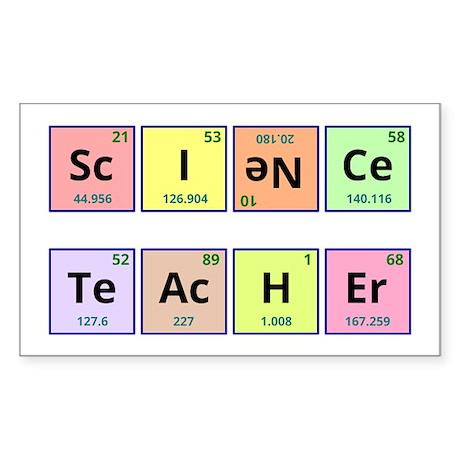 Science Teacher Sticker (Rectangle)
