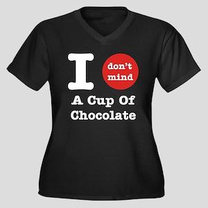I Don't Mind... Women's Plus Size V-Neck T-Shirt