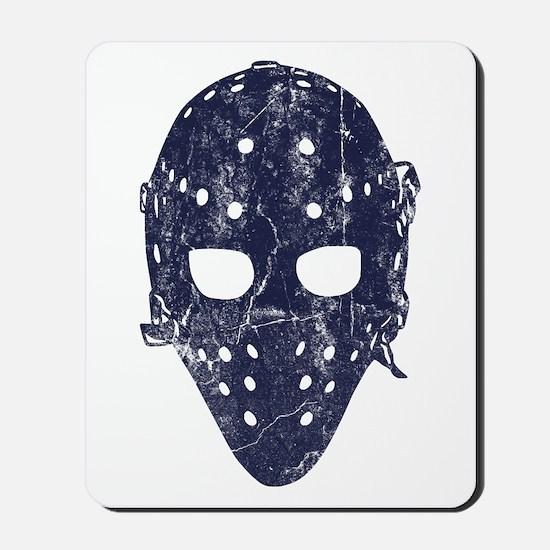 Vintage Hockey Goalie Mask (dark) Mousepad