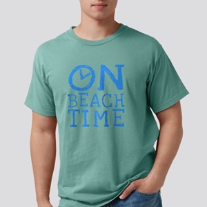 On Beach Time Mens Comfort Colors Shirt