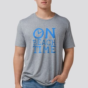 On Beach Time Mens Tri-blend T-Shirt
