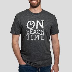 On Beach Time Mens Tri-blend T-Shirt