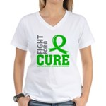 Kidney Disease Fight For A Cure Women's V-Neck T-S