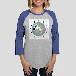 3-clock_alpine Womens Baseball Tee