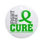 Kidney Disease Fight For A Cure Ornament (Round)