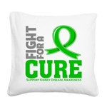 Kidney Disease Fight For A Cure Square Canvas Pill