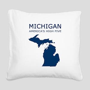 MI_high5 Square Canvas Pillow