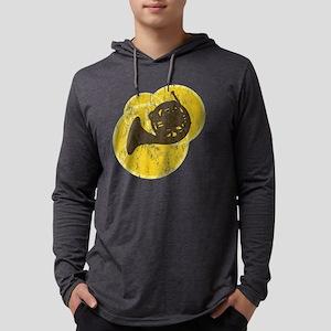 circle_horn_black Mens Hooded Shirt