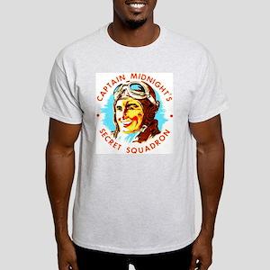Captain Midnight's Secret Squ Ash Grey T-Shirt