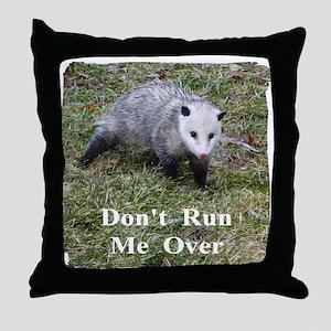 Possum Road Kill Throw Pillow