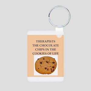 therapist Aluminum Photo Keychain