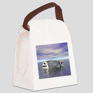 Fish Bones Canvas Lunch Bag