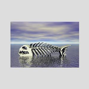 Fish Bones Rectangle Magnet
