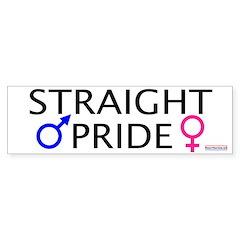 Straight Pride<br>Bumper Bumper Sticker