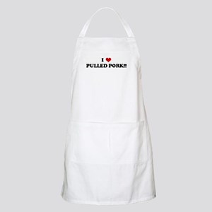 I Love PULLED PORK!!! BBQ Apron