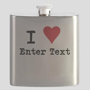 I Love Blank CUSTOM Flask