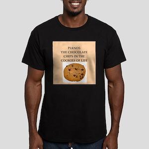 piano Men's Fitted T-Shirt (dark)