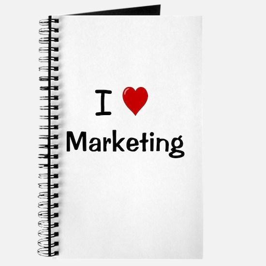 I Love Marketing Notebook Journal