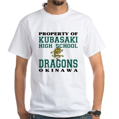 Property Of KHS Dragons White T-Shirt