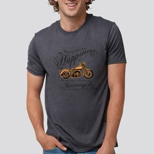 Happiness - Motorcycle Mens Tri-blend T-Shirt