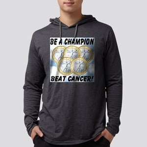 be_a_champion_beat_cancer Mens Hooded Shirt