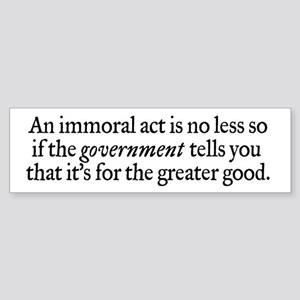 Immoral Acts Sticker (Bumper)