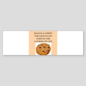 mason and street Sticker (Bumper)