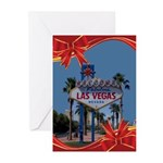Red Ribbon LV Christmas Greeting Cards (Pk of 20)
