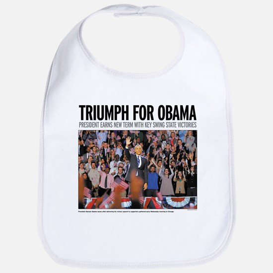 Triumph for Obama Bib