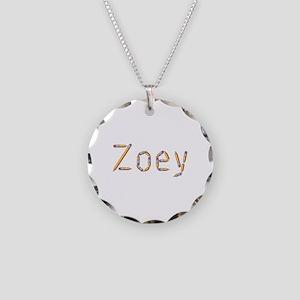Zoey Pencils Necklace Circle Charm
