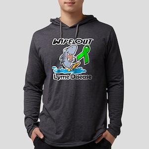 Wipe Out Lyme Disease Mens Hooded Shirt