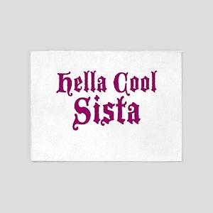 Hella Cool Sista 5'x7'Area Rug