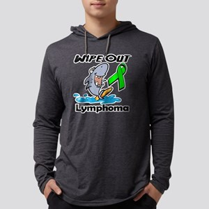 Wipe Out Lymphoma (Lime Green).p Mens Hooded Shirt