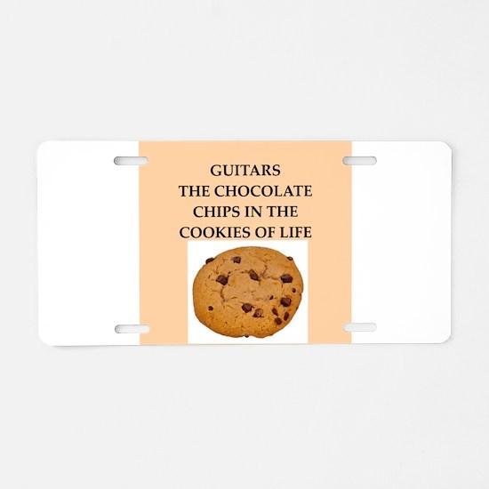 guitar Aluminum License Plate