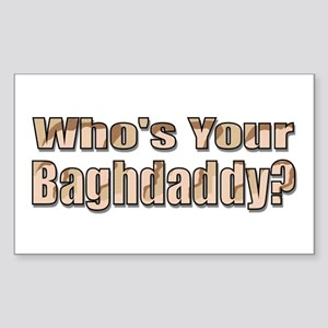 Who's Your Baghdaddy? 03 Rectangle Sticker