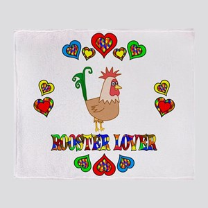 Rooster Lover Throw Blanket