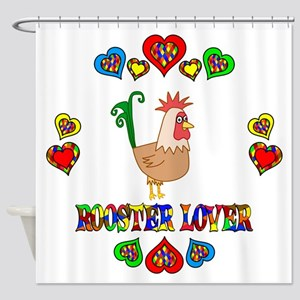 Rooster Lover Shower Curtain